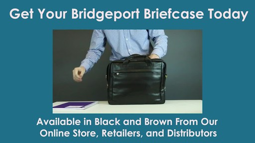 McKlein USA Bridgeport Leather Laptop Brief - image 10 from the video