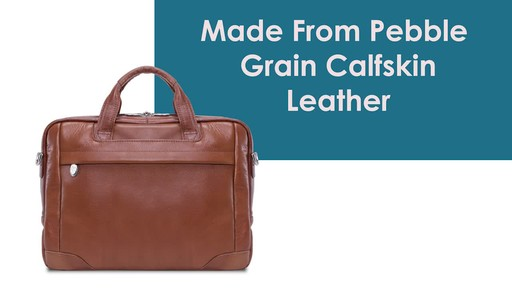 McKlein USA Bridgeport Leather Laptop Brief - image 3 from the video