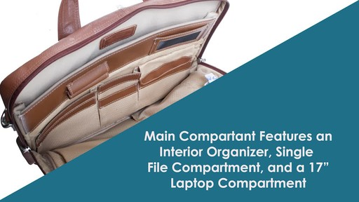 McKlein USA Bridgeport Leather Laptop Brief - image 5 from the video