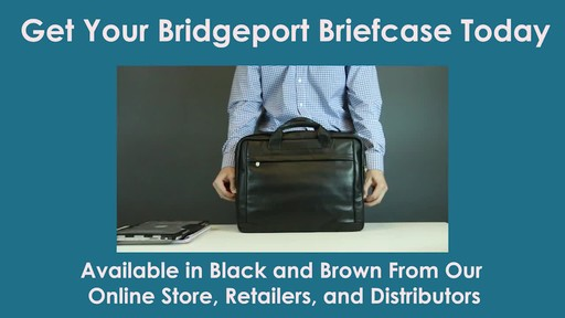 McKlein USA Bridgeport Leather Laptop Brief - image 9 from the video