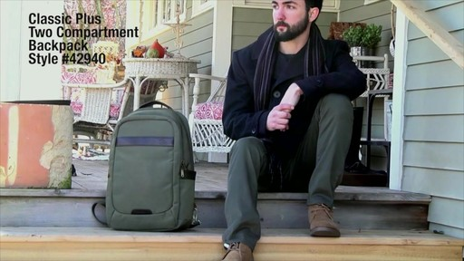 Travelon Anti-Theft Classic 2-Compartment Backpack - eBags.com - image 1 from the video