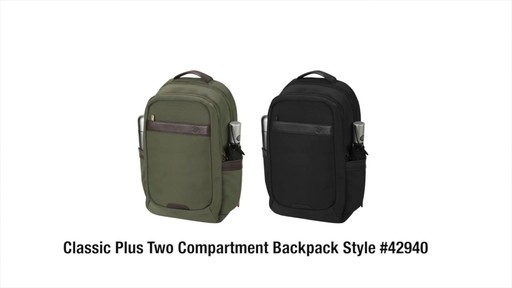 Travelon Anti-Theft Classic 2-Compartment Backpack - eBags.com - image 10 from the video