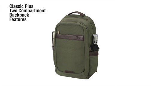 Travelon Anti-Theft Classic 2-Compartment Backpack - eBags.com - image 2 from the video