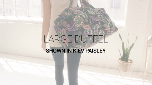 Vera Bradley Large Duffel - image 1 from the video