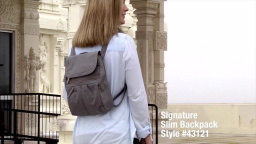 Travelon Anti-Theft Signature Slim Backpack - Shop eBags.com - image 1 from the video