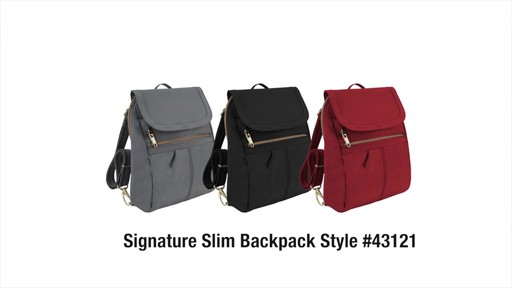 Travelon Anti-Theft Signature Slim Backpack - Shop eBags.com - image 10 from the video