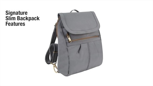 Travelon Anti-Theft Signature Slim Backpack - Shop eBags.com - image 2 from the video