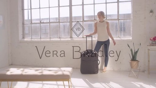 Vera Bradley Large Foldable Roller Luggage - image 10 from the video