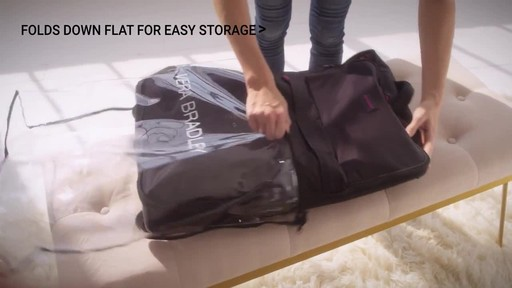 Vera Bradley Large Foldable Roller Luggage - image 5 from the video