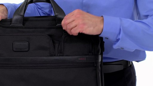 Tumi Alpha 2 Compact Large Screen Laptop Brief - eBags.com - image 5 from the video