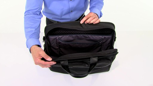 Tumi Alpha 2 Compact Large Screen Laptop Brief - eBags.com - image 7 from the video