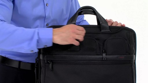 Tumi Alpha 2 Compact Large Screen Laptop Brief - eBags.com - image 9 from the video