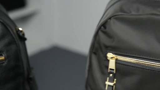 Tumi Voyageur Carson Leather Backpack - image 10 from the video