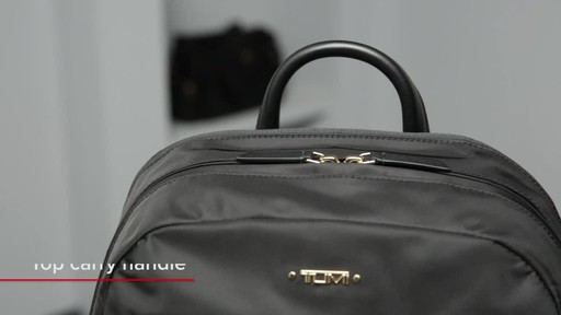 Tumi Voyageur Carson Leather Backpack - image 2 from the video