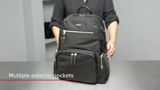 Tumi Voyageur Carson Leather Backpack - image 4 from the video