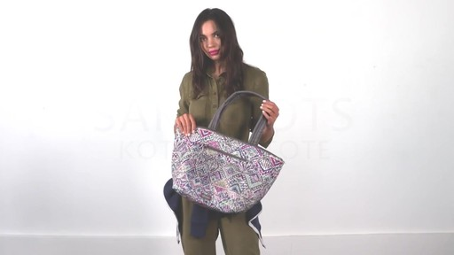 11ace6405d Saktoots Kota Reversible City Tote - image 1 from the video