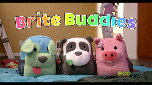 ecogear Brite Buddies Plush Backpack with LED Flashing Lights - image 1 from the video