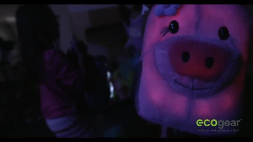 ecogear Brite Buddies Plush Backpack with LED Flashing Lights - image 10 from the video