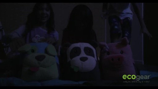 ecogear Brite Buddies Plush Backpack with LED Flashing Lights - image 6 from the video