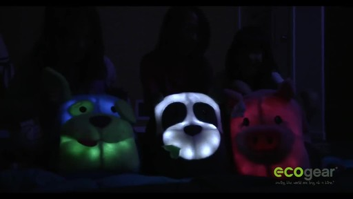 ecogear Brite Buddies Plush Backpack with LED Flashing Lights - image 7 from the video