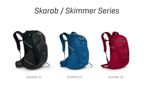 Osprey Skarab and Skimmer Hiking Backpacks - image 2 from the video