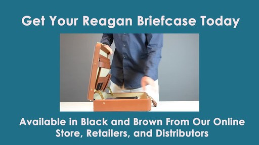 McKlein USA Reagan Leather Attache Case - image 10 from the video
