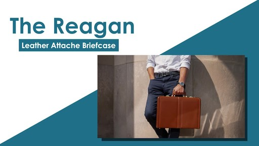 McKlein USA Reagan Leather Attache Case - image 2 from the video