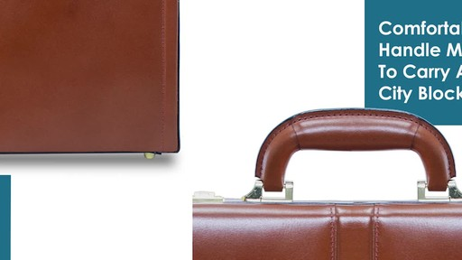 McKlein USA Reagan Leather Attache Case - image 6 from the video