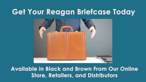 McKlein USA Reagan Leather Attache Case - image 8 from the video