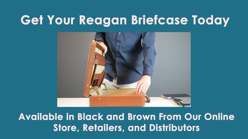 McKlein USA Reagan Leather Attache Case - image 9 from the video
