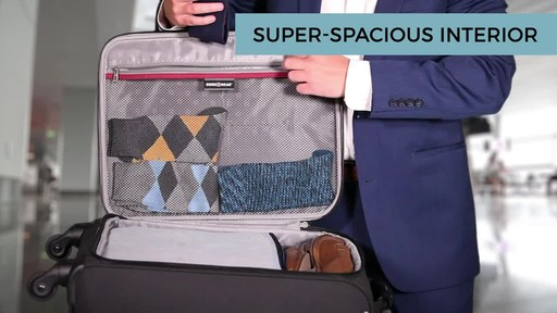 SwissGear Travel Gear 1900 Spinner Carry-On Luggage - eBags Exclusive - image 9 from the video