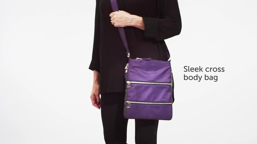 Sacs Collection by Annette Ferber Triple Zip- Expandable Cross Body Bag - eBags.com - image 2 from the video
