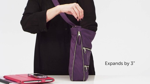 Sacs Collection by Annette Ferber Triple Zip- Expandable Cross Body Bag - eBags.com - image 3 from the video