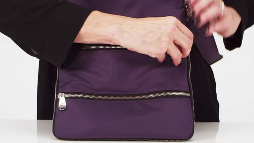 Sacs Collection by Annette Ferber Triple Zip- Expandable Cross Body Bag - eBags.com - image 5 from the video