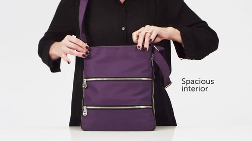 Sacs Collection by Annette Ferber Triple Zip- Expandable Cross Body Bag - eBags.com - image 7 from the video