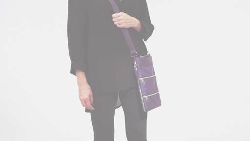 Sacs Collection by Annette Ferber Triple Zip- Expandable Cross Body Bag - eBags.com - image 9 from the video