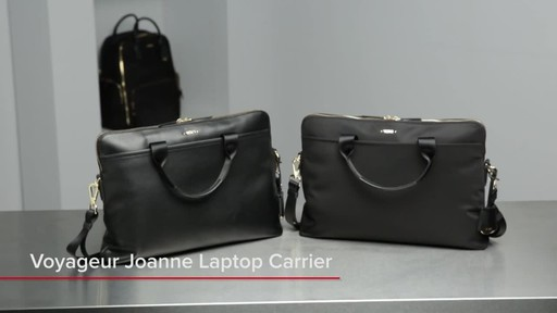 Tumi Voyageur Joanne Leather Laptop Carrier - image 1 from the video