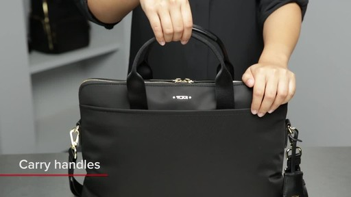 Tumi Voyageur Joanne Leather Laptop Carrier - image 3 from the video
