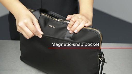 Tumi Voyageur Joanne Leather Laptop Carrier - image 5 from the video