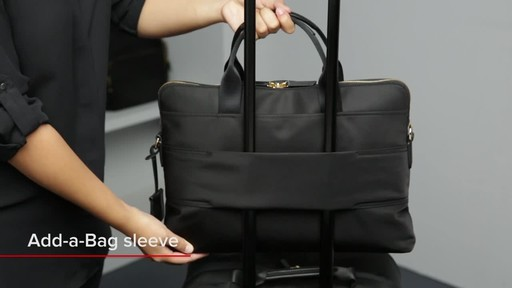 Tumi Voyageur Joanne Leather Laptop Carrier - image 6 from the video