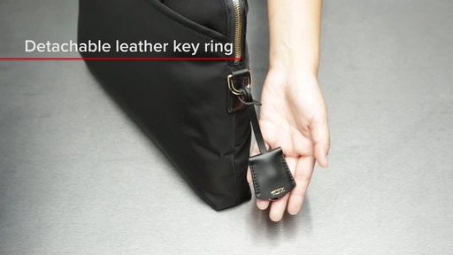 Tumi Voyageur Joanne Leather Laptop Carrier - image 7 from the video