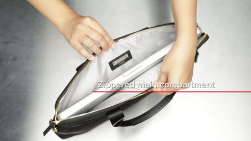 Tumi Voyageur Joanne Leather Laptop Carrier - image 9 from the video