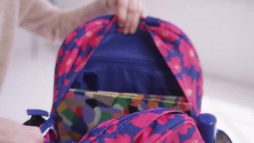 Vera Bradley Lighten Up Grande Laptop Backpack - image 3 from the video