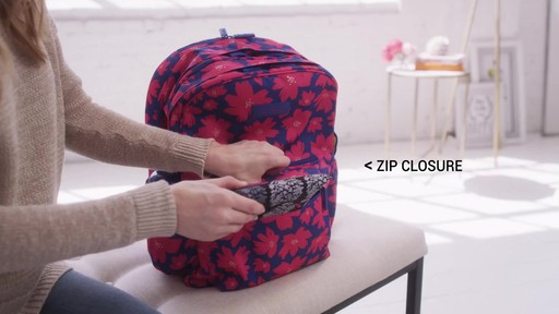 Vera Bradley Lighten Up Grande Laptop Backpack - image 5 from the video