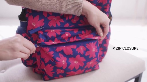 Vera Bradley Lighten Up Grande Laptop Backpack - image 6 from the video