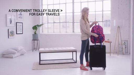 Vera Bradley Lighten Up Grande Laptop Backpack - image 8 from the video