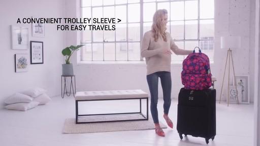 Vera Bradley Lighten Up Grande Laptop Backpack - image 9 from the video
