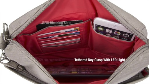 Travelon Anti-theft Classic Small E/W Crossbody Bag - Shop eBags.com - image 8 from the video