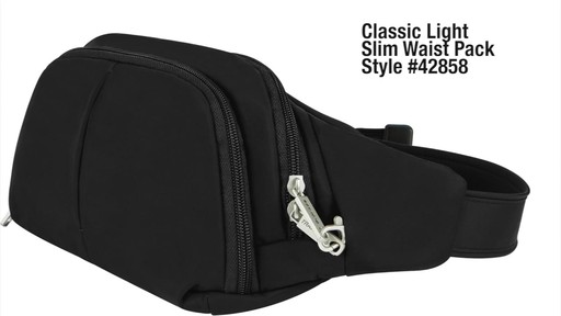 Travelon Anti-Theft Classic Light Slim Waist Pack - eBags.com - image 1 from the video