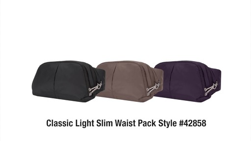 Travelon Anti-Theft Classic Light Slim Waist Pack - eBags.com - image 10 from the video